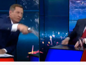 Canlı yayında şok! Başkan adayını yüzüne su serpti