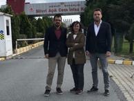 Sendika yöneticileri Silivri'deki gazetecilerle görüştü