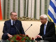Yunan medyası Erdoğan'ın karşısında ezilen Pavlopulos'la alay ediyor