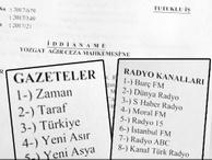 FETÖ iddianamesinde TV Net ve Türkiye gazetesi bombası