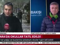 TRT muhabirine canlı yayında kartopu sürprizi