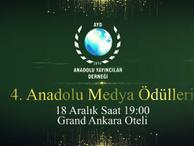 4. Anadolu Medya Ödülleri Sahiplerini Buluyor!