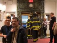 Türk gazetecilerin kaldığı otelde yangın paniği