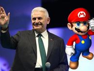 Binali Yıldırım'ı Super Mario yaptılar