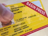 Yeni basın kartlarının rengi artık sarı değil!