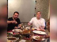 Mehmet Ali Erbil'den eğlenceli video! 'Dostlarla akşam yemeği'