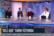 Deli Aşk ekibi NTV'de kırdı geçirdi...