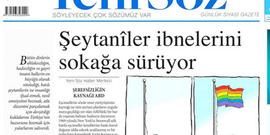 Yeni Söz Gazetesi'nden olay LGBT manşeti