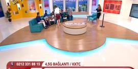 Türk televizyonlarında bir ilk daha; Canlı yayında kedi paniği!