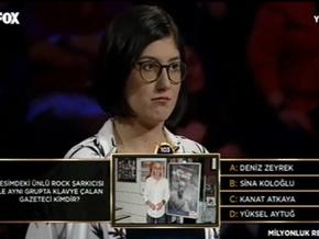Hangi ünlü gazeteci Fox'un yarışmasında soru oldu