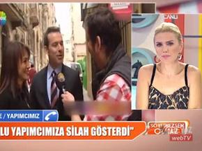 Murat Başoğlu Beyaz TV'yi bastı yapımcının ağzına silah soktu!