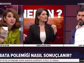Haber Global'de Feyza Altun ile Cavit Tatlı canlı yayında birbirine girdi