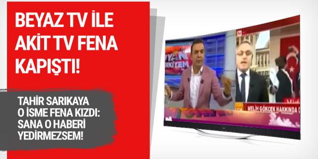 Beyaz Tv ile Akit çok fena birbirine girdi; Sana o haberi yedirmezsem!