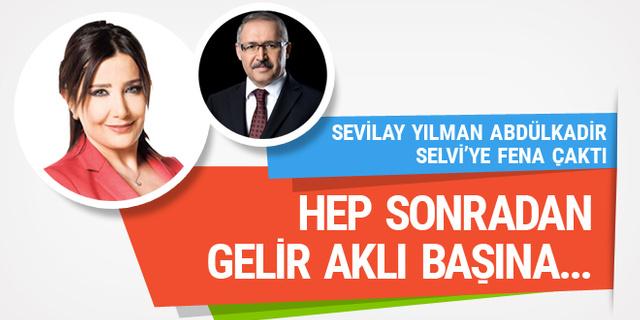 Sevilay Yılman Abdülkadir Selvi'yi Ahmet Kaya şarkısıyla vurdu; Hep sonradan...