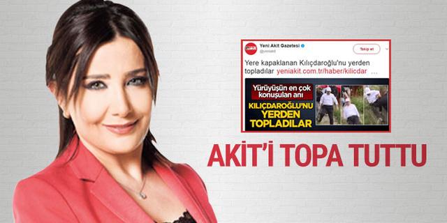 Sevilay Yılman, Akit gazetesinin Kılıçdaroğlu haberini topa tuttu...