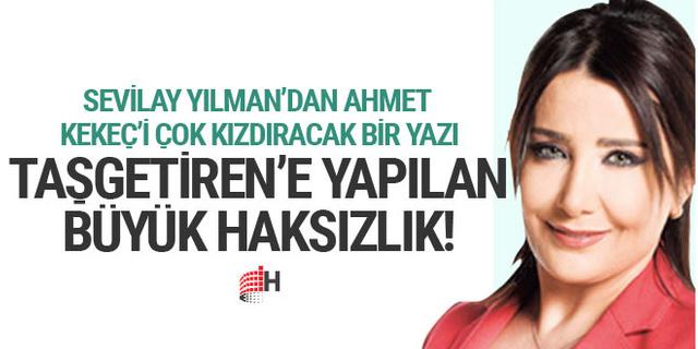 Sevilay Yılman'dan Ahmet Taşgetiren'e destek