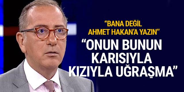 Fatih Altaylı'dan Doğan Grubu'na Ahmet Hakan göndermesi