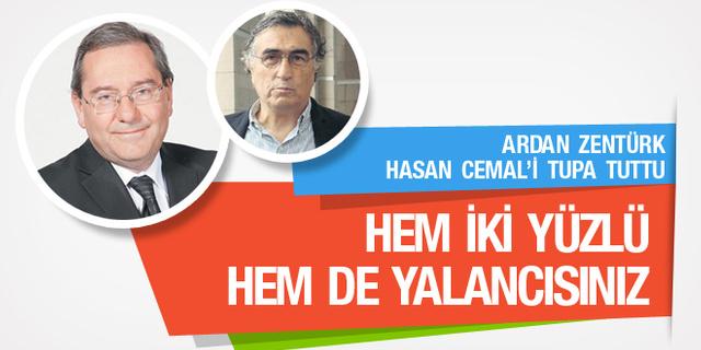 Ardan Zentürk Hasan Cemal'i topa tuttu; İki yüzlü ve yalancısınız!