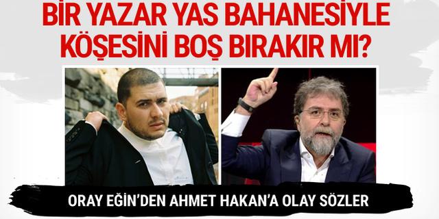 Oray Eğin'den Ahmet Hakan'a Afrin yası tepkisi