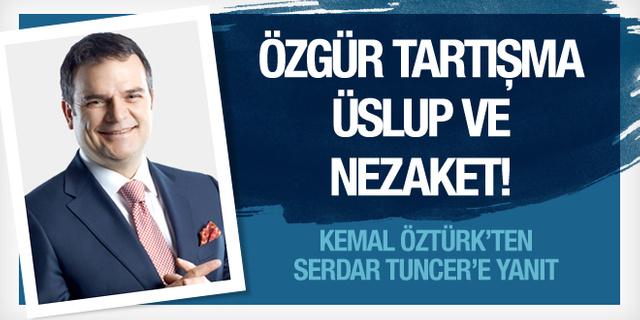 Kemal Öztürk'ten Serdar Tuncer'e 'sol elle yemek' yanıtı