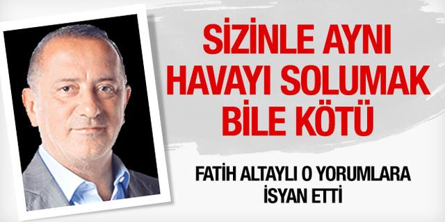 Fatih Altaylı o yorumlara isyan etti