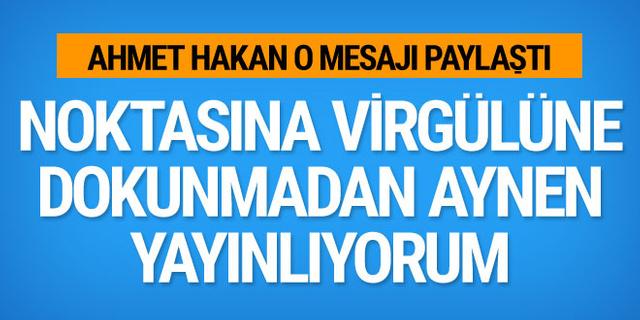 Yavuz Bingöl'den Ahmet Hakan'a yanıt