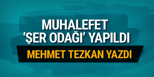 Mehmet Tezkan: Muhalefet 'şer odağı' yapıldı!..
