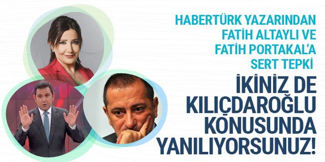 Sevilay Yılman'dan Fatih Portakal ve Fatih Altaylı'ya: İkiniz de yanılıyorsunuz!
