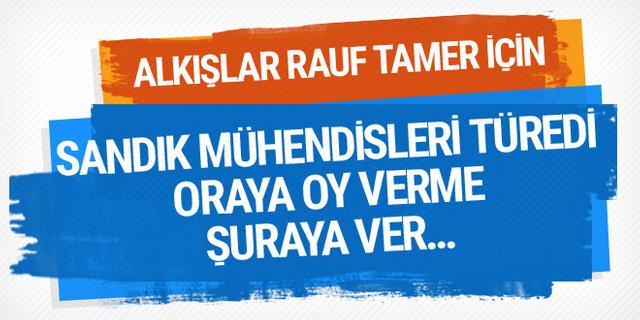 Alkışlar Rauf Tamer için