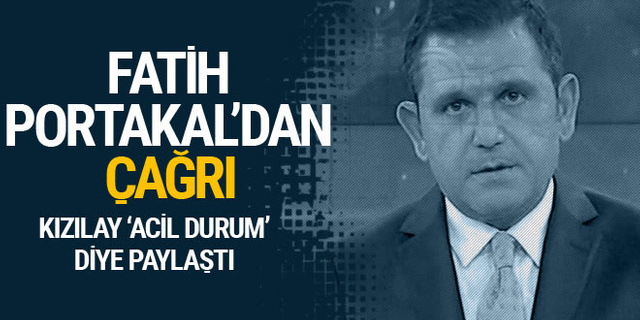 Fatih Portakal'dan Kızılay'ın kan bağışı çağrısına destek