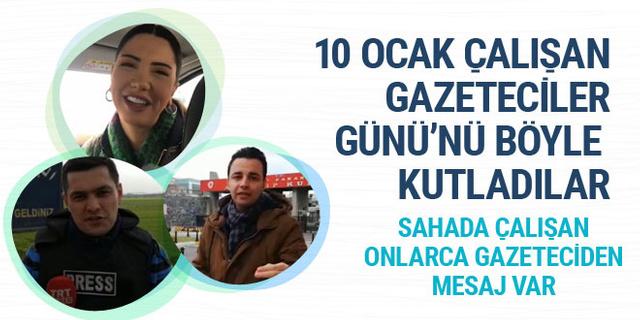Sahada çalışan onlarca gazeteci 10 Ocak Çalışan Gazeteciler Günü'nü böyle kutladı