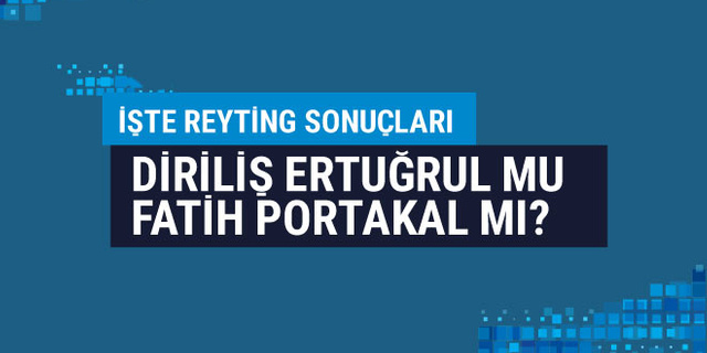 Diriliş Ertuğrul mu, Fatih Portakal mı? 16 Ocak 2019 reyting sonuçları