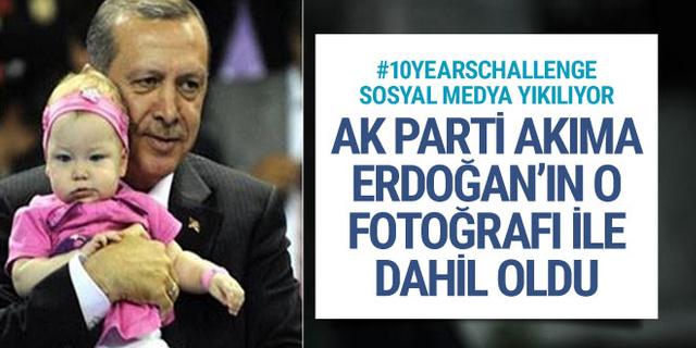 AK Parti, Erdoğan fotoğrafıyla #10YearsChallenge akımına dahil oldu