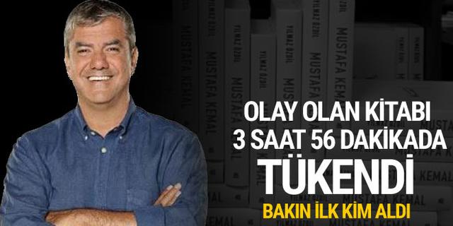 Yılmaz Özdil'in Mustafa Kemal kitabı 3 saat 56 dakikada tükendi! İlk kitabı bakın kim aldı
