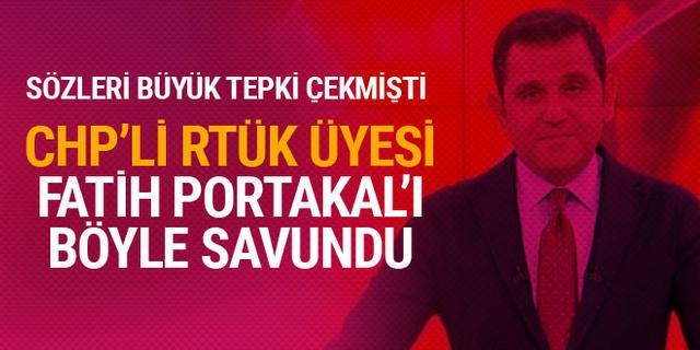 RTÜK üyesi Fatih Portakal'ı savundu