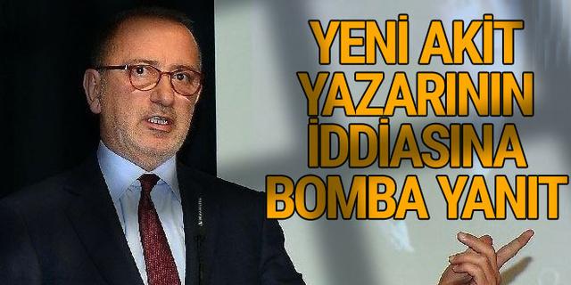 Fatih Altaylı'dan Yeni Akit yazarına bomba yanıt!