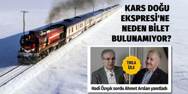 Kars Doğu Ekpresi'ne neden bilet bulunmuyor?