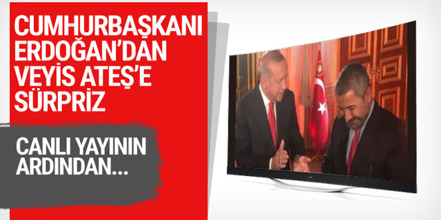 Cumhurbaşkanı Erdoğan'dan Veyis Ateş'e büyük sürpriz
