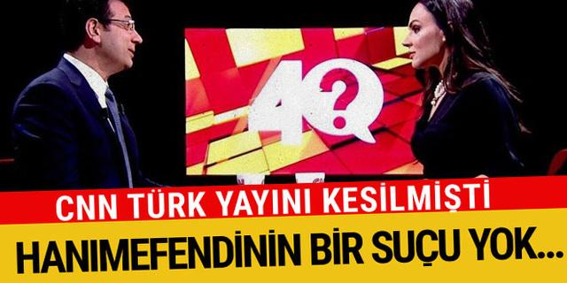 Ekrem İmamoğlu'ndan Buket Aydın açıklaması! CNN Türk yayını kesilmişti