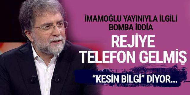Kesin bilgi diyor! Ekrem İmamoğlu Ahmet Hakan yayınıyla ilgili iddia!