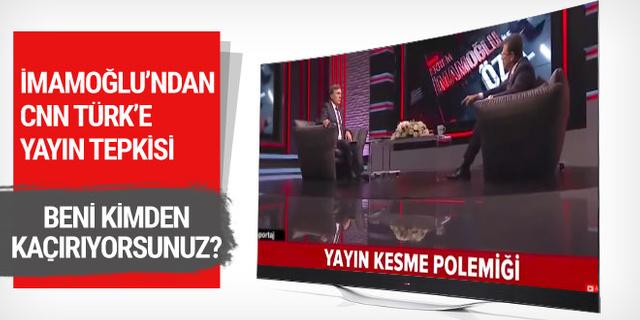 Ekrem İmamoğlu'ndan Ahmet Hakan açıklaması: Beni kimden kaçırıyorsunuz?