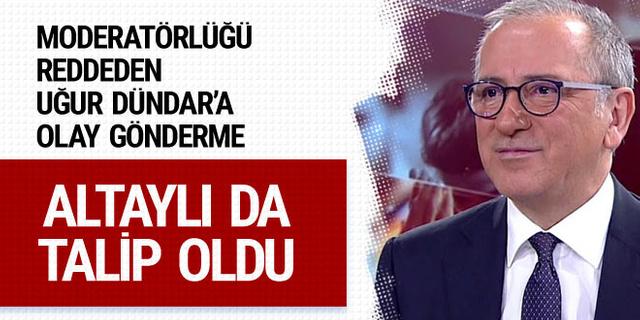 Yıldırım-İmamoğlu yayınına Fatih Altaylı da talip oldu!