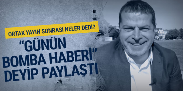 Cüneyt Özdemir: 'Hadi Özışık'ın bomba haberi...' deyip paylaştı