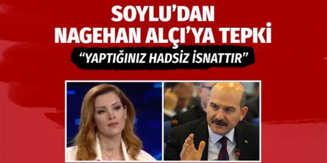 Süleyman Soylu'dan Nagehan Alçı'nın o sözlerine tepki