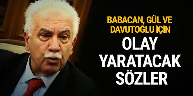 Doğu Perinçek'ten çok konuşulacak iddia: Babacan, Gül ve Davutoğlu FETÖ'nün siyasi ayağı