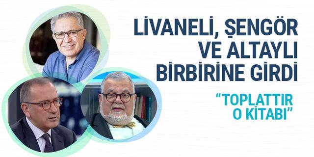Zülfü Livaneli, Celal Şengör ve Fatih Altaylı birbirine girdi
