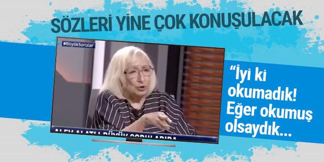 Alev Alatlı'dan çok konuşulacak sözler: Türk toplumunun avantajı okumaması