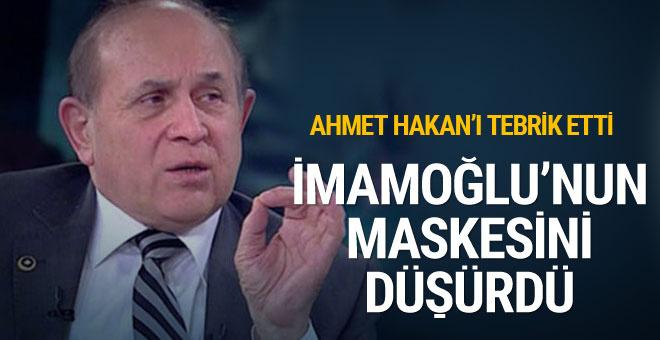 Burhan Kuzu'dan Ahmet Hakan'a tebrik: İmamoğlu'nun maskesinin bir kısmını düşürdü
