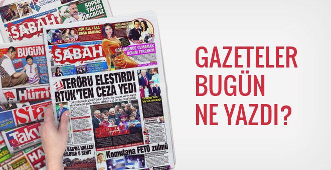 22 Ocak 2017 Pazar gazete manşetleri