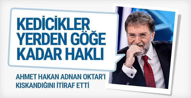 Ahmet Hakan Adnan Oktar'ı kıskandığını itiraf etti; benim bir kedim var o da...